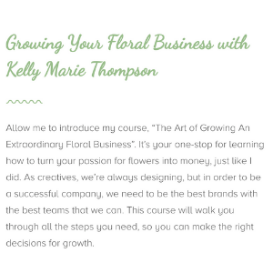The Art Of Growing An Extraordinary Floral Company Work Pages